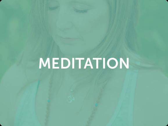 Vicky meditating